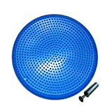 Gymway Inflated Stability Wobble Cushion with Pump, Flexible Seating Classroom, Extra Thick Core Balance Disc, Wiggle Seat for Sensory Kids (Office & Home & School) (34cm Blue)