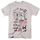 Monopoly Monopoly Icons Unisex Adult T Shirt for Men and Women, Silver, Medium