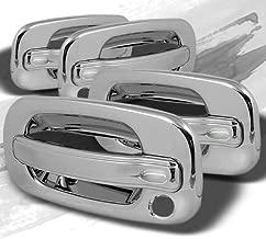 MAXMATE Fits 02-06 Cadillac Escalade/Chevy Avalanche/00-06 Tahoe/Silverado/Suburban 99-06 GMC Sierra/00-06 Yukon 4 Doors No Keypad W/Passenger Keyhole Door Handle Cover