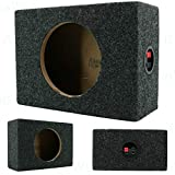 2X Audiotek CA-65CB 6.5- Inch Vented Speaker Box Enclosure Carpet Texture Terminal Cup Product for Great Audio Medium-Density Fibreboard Sturdy Construction -Pair