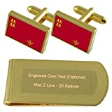 Select Gifts Murcia Bandera de Tono Oro Gemelos Money Clip Grabado Set de Regalo