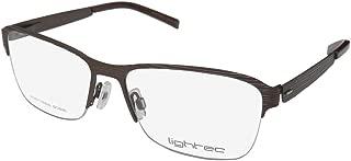 Lightec By Morel 7752l Mens/Womens Designer Half-rim Spring Hinges Stainless Steel Fancy Fabulous Eyeglasses/Eye Glasses