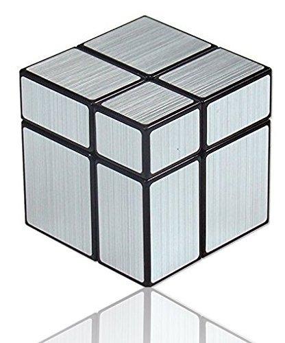Shengshou Cubo 2x2x2 Mirror Cube 2x2 Plateado Regalo Original LEVEL25