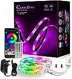 10M LED Strip Lights,COOLAPA IP65 Waterproof Led Strip Lights 32.8 FT,Color Changing Sync with Music,Bluetooth APP Control - 40 Keys IR Remote Control 300 LEDs 5050 RGB , 2PCx5M