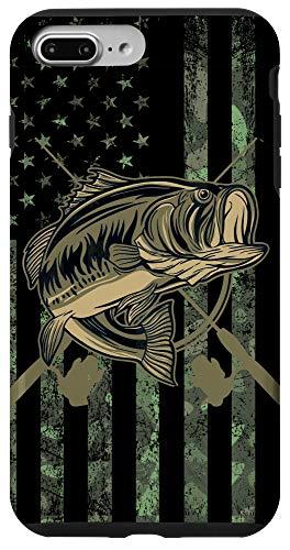 iPhone 7 Plus/8 Plus Camo American Flag Bass Fishing Gift Love Fishing Fisherman Case