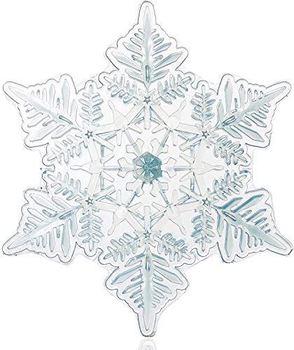 "devembr Snowboard Stomp Pad, 3D Clear Snowflake Snowboarding Stomp Pads, PVC Material, 5.11"" x 4.53"", Transparent Pattern"