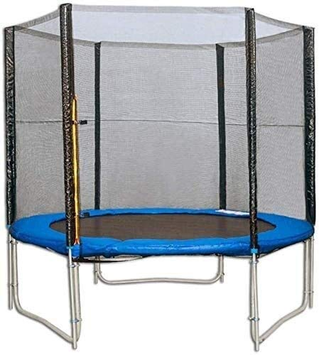 LuoMei Adults and Kids Trampoline with Enclosure Net High Elasticity Trampoline with Safety Enclosure Outdoor and Indoor Trampoline for Kids Durable Stand Net Go Outside The Polesblue, 137x35x37cm