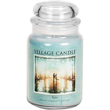Village Candle 106326811 Rain Grande Vaso, Blu, 10.4 x 10.1 x 17.7 cm