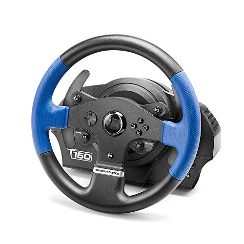 WSMLA Thrustmaster Force Feedback Racing Wheel et Ordinateur Windows Jeu de Course au Volant de Voitures Simulation Pilote PS4 Vitesse Ouka 2 Apprentissage Voiture, adapté à Une variété de Jeu