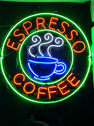 "Urby 24""x24"" Espresso Coffee Cafe Neon Light Sign Beer Bar Handicraft SP66"