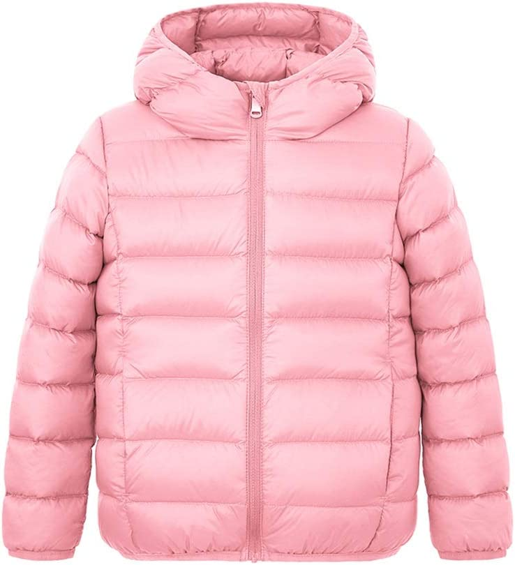 Jacket Warm Girls Winter Down Coats for Kids Baby Boys Puffer Jacket with Hood Outdoor Thicken Parkas Gift Outdoor (Color : Pink, Size : Large)