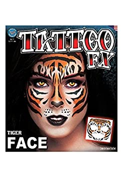 Loftus Tinsley Transfers Tiger Face Tattoo Standard