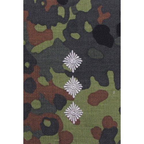Unbekannt 1 Paar Bundeswehr Rangabzeichen Flecktarn/Silber Rangschlaufe Rangschlaufen Abzeichen Schlaufe Verschiedene Dienstgrade (Hauptmann)