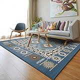alfombra Ali Nórdico salón sofá Mesa de café Simple casa Moderna Dormitorio Cama Llena Rectangular (Color : #1, Tamaño : 1.4 * 2m)
