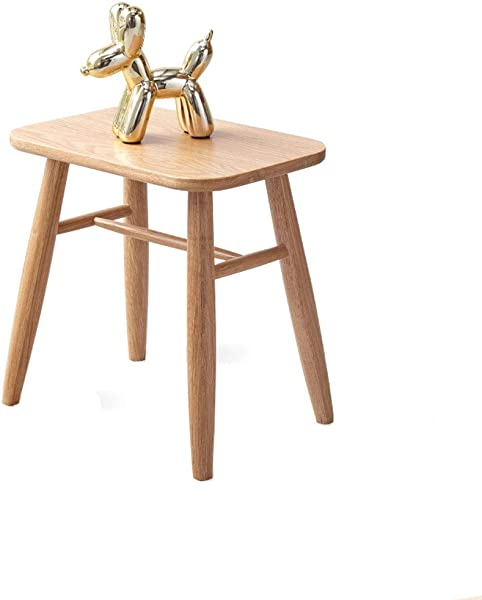 European Mute Non Slip White Oak Stool For Dressing Table Bedroom Desk Living Room Dining Table 412941cm