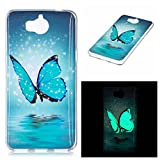 Pour Huawei Y5 2017 / Huawei Y6 2017 Coque , YIGA Mode Noctilucent Lumineux Ultra-mince Pourpre...