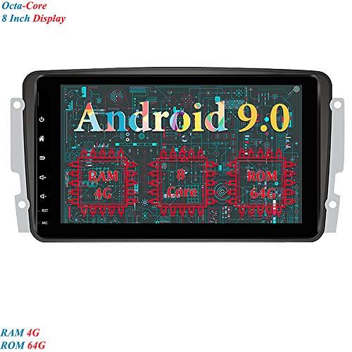 XISEDO 8 Pulgadas Android 9.0 Autoradio 8-Core RAM 4G ROM 64G In Dash Radio de Coche para Mercedes-Benz CLK W209/ C Class W203/A-Class (Autoradio)