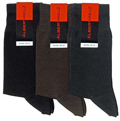 Albert Kreuz Business Herren-Socken HighTech atmungsaktiv - mehrere Farben erhältlich - ein Paar schwarz 42-44