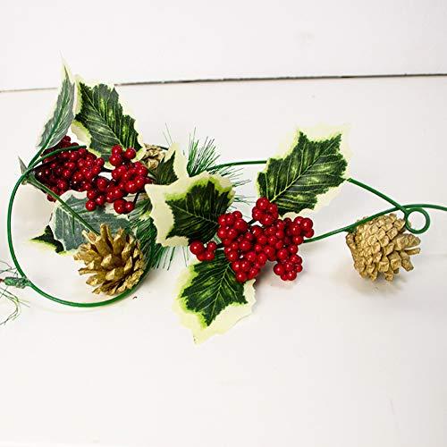 Zebery Guirnalda de luces navideñas, guirnalda de Navidad con luz, luces de piña de Navidad, funciona con pilas, guirnalda de luces para decoraciones de Navidad