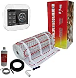 Nassboards Premium Pro - Kit de Tapis de Chauffage Au Sol Électrique de 150 W - 20.0m² - Thermostat Blanc WiFi Intelligent