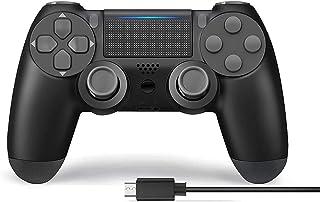 Manette pour PS4,JORREP Manette sans fil pour Playstation 4/Pro/Slim Console avec audio,Dualshock Fonction