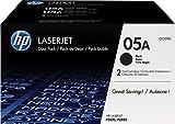 HP Multipack 05A, CE505D, da 2 Cartucce Toner Originali CE505A Standard, da 2.300 Pagine Ciascuna, Compatibile con le Stampanti HP LaserJet P2035, P2055, P2055D,P2055DN e P2055, Nero