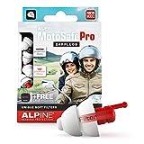 Alpine MotoSafe Pro Bouchons d'oreilles protection auditive pour motocyclisme - Boules Quies pour les courses/tournées afin de réduire le bruit du vent - trafic audible -Hypoallergénique réutilisable