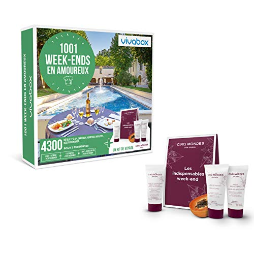 Vivabox - Coffret cadeau couple - 1001 WEEK-ENDS EN AMOUREUX + 1 kit de voyage