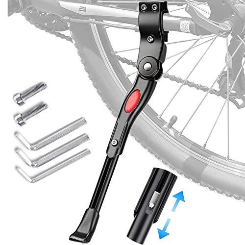 Nifogo Fahrradständer Einstellbare Universal Fahrradständer Unterstützun, für 24-28 Zoll, für Mountainbike, Rennrad, Fahrräder und Klapprad (Black)
