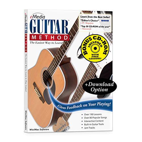 eMedia Guitar Method v6 - Special Edition with 170+ Additional Lessons - Learn At Home