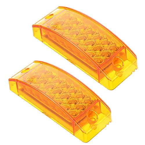 Hehemm 12 LED côté marqueur voyant lumineux lampe pour camion remorque 24 V (lot de 2)