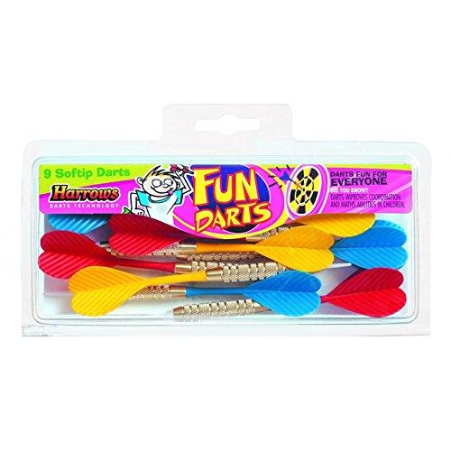 Lote dardos harrows fun darts laton 2ba 4mm