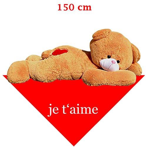 150 cm pupazzo orso gigante di peluche XXL Peluche Orso panno disteso je taime