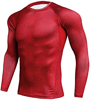 BEESCLOVER Long Sleeve Sport Dry Men's Running T-Shirts Compression Tights Men Gym
