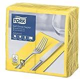Tork 470252 Soft Dinner Servilleta para cena color amarillo / 3 capas / 12 paquetes x 100 unidades (1200 servilletas) / pliegue 1/8 / 39 cm x 39 cm/Advanced