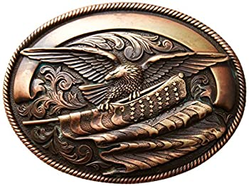 Nocona Men s Copper Eagle Flag Buckle One Size
