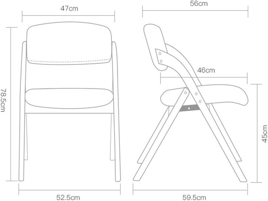 FEI Confortable Chaise chaise pliante ménage en bois massif à manger chaise fauteuil fauteuil Solide et durable (Couleur : B) E