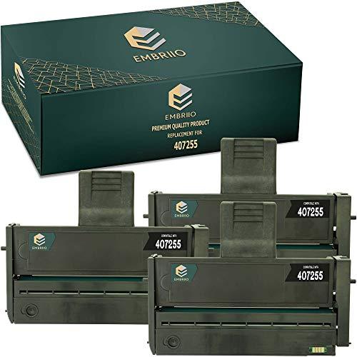 EMBRIIO 3X 407254 407255 Cartucho Tóner Reemplazo para Ricoh SP200 SP201 SP202 SP203 SP204 SP210 SP211 SP212 SP213 N NW S SF SFN SFNW SFW SNW SU SUW W