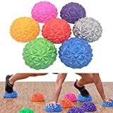 ZJYWYG 3 Stück Halbrunder Massageball, 6,7'× 3,5' Blutkreislauf, halbe Fitnesskuppeln für Fußmassage und Gleichgewichtsstabilität - Kinder und Erwachsene