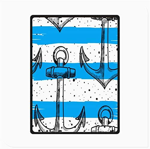 WYFDJ Manta de Cama de Franela de Forro Polar, Manta de Microfibra Suave Difusa de Felpa Reversible, Esquema De Ancla De Barco Transparente Negro Cómico Manta Estampada, para Silla y Sofá