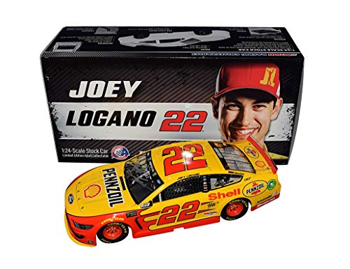AUTOGRAPHED 2019 Joey Logano #22 Shell/Pennzoil Ford Mustang (Team Penske Racing) Monster Energy Cup Series Signed Lionel 1/24 Scale NASCAR Diecast Car with COA (#0812 of only 1,321 produced)