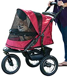 The No-Zip Jogger Stroller by Pet Gear is both rugged and versatile, making it a winner with pet owners