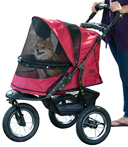 Pet Gear No-Zip Jogger Pet Stroller for Cats/Dogs, Zipperless Entry, Easy One-Hand Fold, Air Tires,...