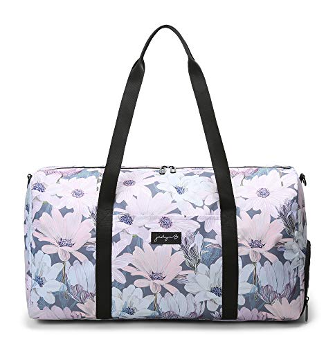Jadyn B 22' Women's Large Duffel/Weekender Bag with Shoe Pocket (Blooming Daisy)