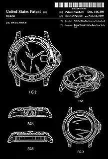 1999 - Rolex Diving Watch - V. Blondin - Patent Art Poster