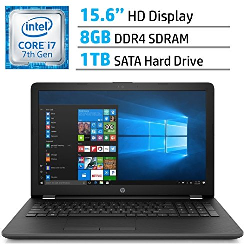 HP 15.6-inch HD SVA BrightView WLED-backlit Laptop PC, 7th Gen Intel Core i7-7500U 2.7GHz Processor, 8GB DDR4 SDRAM, 1TB HDD, HDMI, Bluetooth, Intel HD Graphics 620, DVD +/- RW, Window