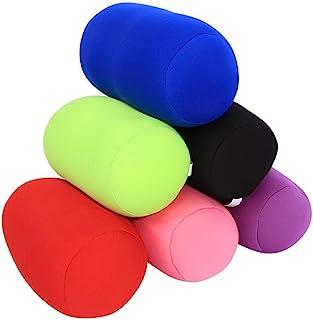 Hotaden Rouleau Coussin Traversin Microbilles Cylindre Cou Colonne De Support en Mousse Rouge Oreillers pour Dormir Chambre Sofa