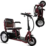 Triciclo eléctrico Scooter - scooters eléctricos de 3 ruedas para adultos / mayores ocio Viajes Scooter, Scooter es ésta con la cesta Ideal Una marcha suave incluso en terrenos difíciles,30 kilometers