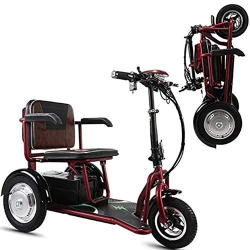 Triciclo eléctrico Scooter - scooters eléctricos de 3 ruedas para adultos / mayores ocio Viajes Scooter, Scooter es ésta con la cesta Ideal Una marcha suave incluso en terrenos difíciles,35 kilometers
