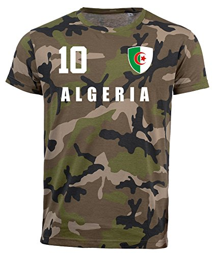 aprom Algerien Camouflage T-Shirt - All-10 - Trikot Army Look WM World Cup Algeria (2XL)